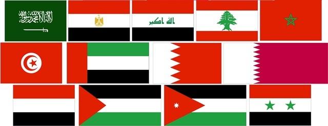 پرچم کشورهای عربی زبان