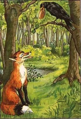داستان روباه و زاغ
