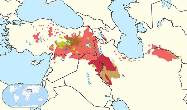 گستره زبان کردی