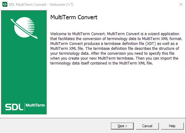SDL MultiTerm Convereter