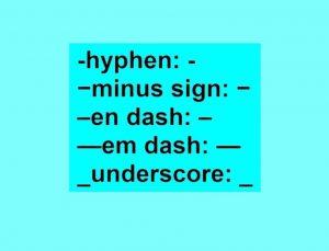 hyphen (هایفن)