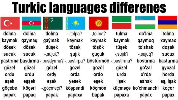 مثالهایی از تفاوتهای زبانهای مختلف ترکی آذربایجانی و استانبولی