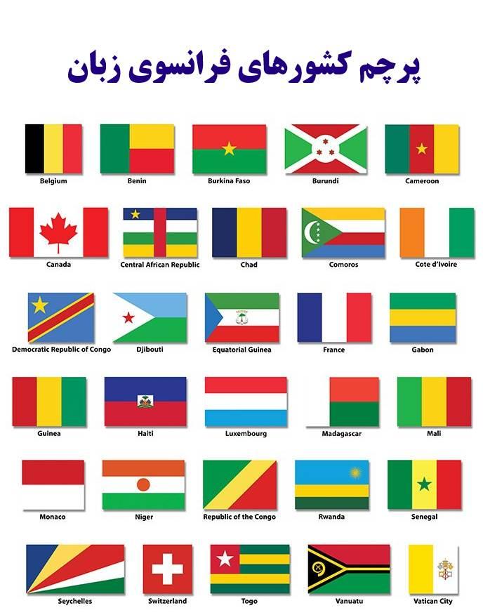پرچم کشورهای فرانسوی زبان