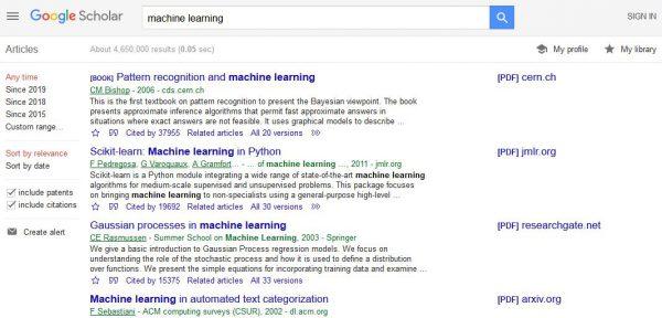 نتایج جستجوی گوگل اسکولار برای machine و learning