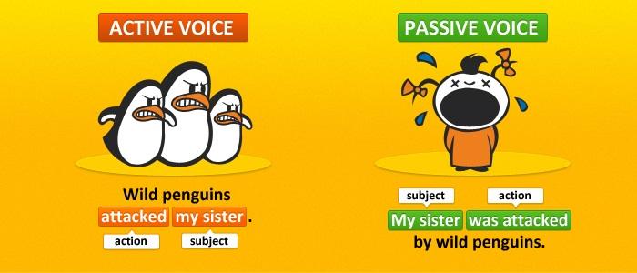 active voice vs passive voice