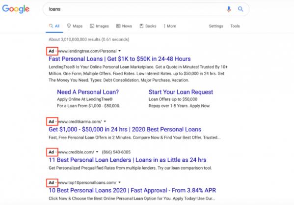 استفاده کلمات کلیدی در google ads